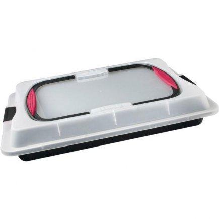 Plech na pečenie s prepravným poklopom Zenker 29x42x8 cm