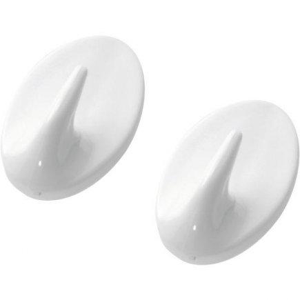 Háčik samolepiaci plast Westmark 2 ks, biely