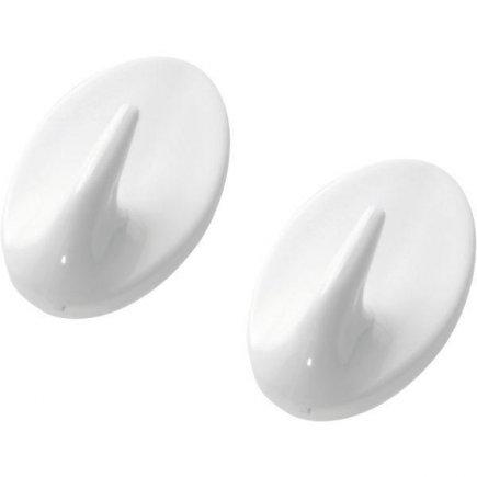 Háčik samolepiaci plast Westmark, biely