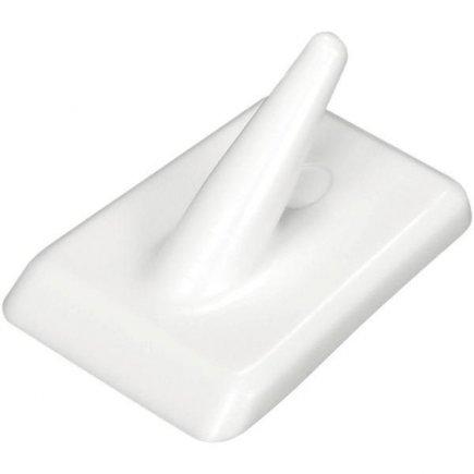 Háčik samolepiaci plast Fackelmann Tecno, biely