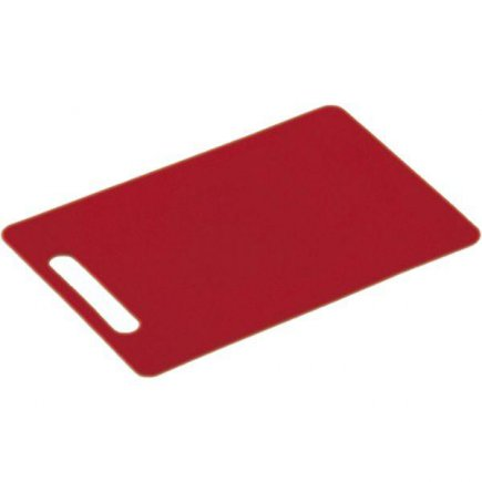 Doštička na krájanie, 240/150/6, kvalitné PVC, vhodné aj do umývačky, červená, Kesper