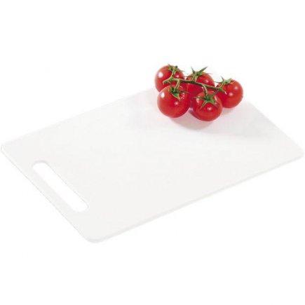 Doštička na krájanie, 240/150/6, kvalitné PVC, vhodné aj do umývačky, biela, Kesper