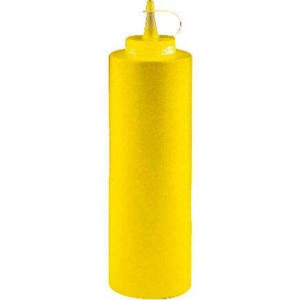 Dávkovacia mačkacia fľaša Paderno 360 ml, žltá