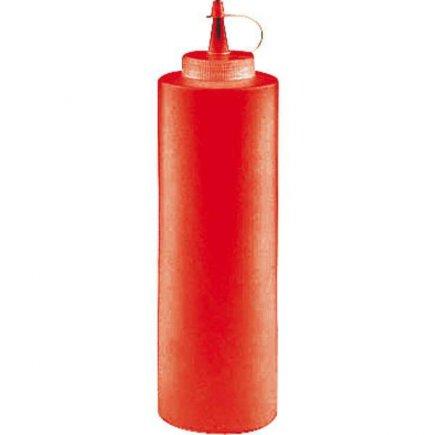Dávkovacia mačkacia fľaša Paderno 360 ml, červená