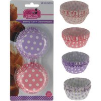 Papierové košíčky na muffiny 100 ks, 2 rôzne farby