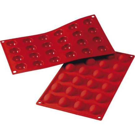 Forma pologule silikónová Silikomart na 24 ks