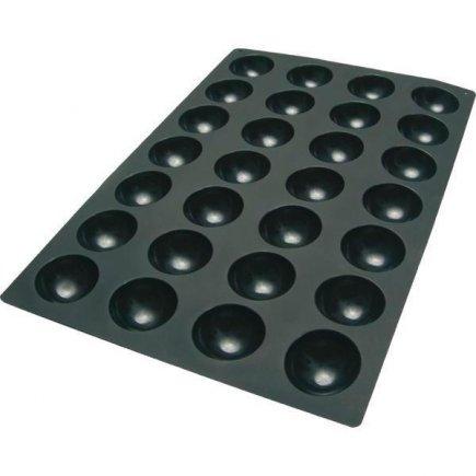 Forma pologule silikónová Silikomart na 28 ks