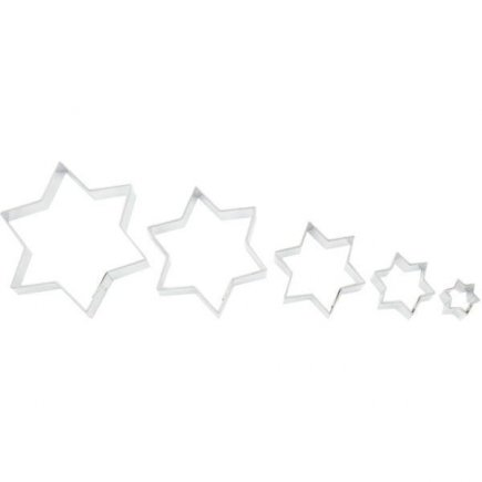 Vykrajovátko hviezda 5 ks