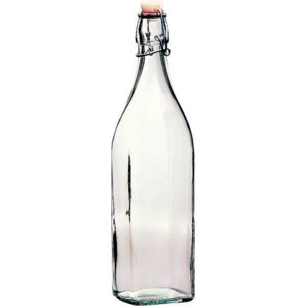 fľaša na alkohol 1,0 l , 4 hranná, Swing  Bormioli Rocco