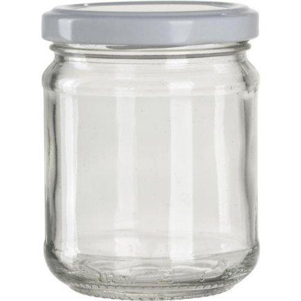 Zaváracie poháre pre lekváry, 212 ml, 6 ks biele viečko Gastro