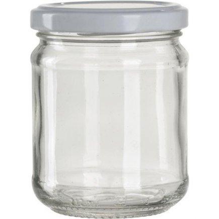 Zaváracie poháre na lekváry, 390 ml, 6 ks, biele viečko Gastro