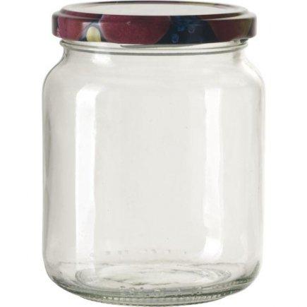 Zaváracie poháre na lekváry, 390 ml, 6ks, viečko ovocie Gastro