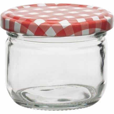 Zavařovací sklenice 120 ml 6ks, víčko káry pro marmelády Gastro