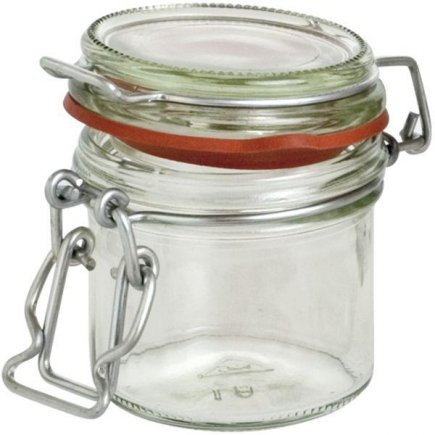 Zaváracie poháre obloučkový uzáver, 125 ml, červená gumička Gastro