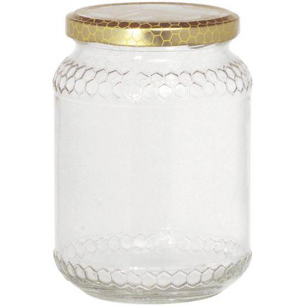 Poháre na med, viečko dekor plástu obsah 1 kg Gastro