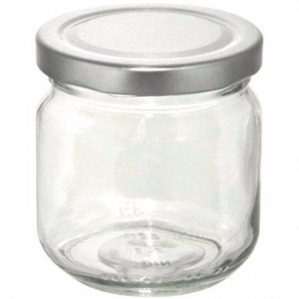 Zavařovací sklenice 212 ml 6ks, stříbrné víčko Gastro