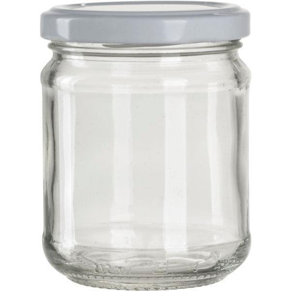 zaváraninové poháre pre lekváry, 212 ml, guľaté, biele viečko