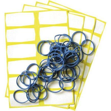 Etikety a gumičky na sáčky do mrazničky 48 + 48 ks