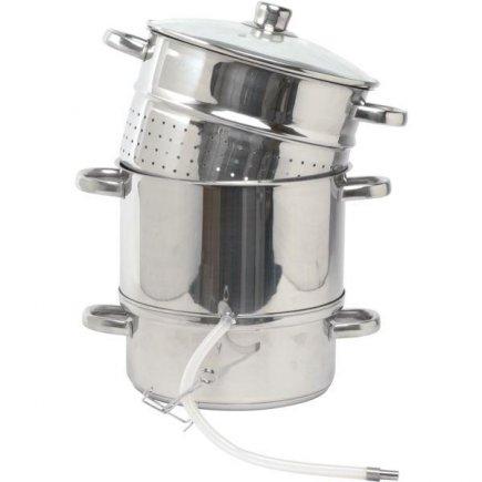 Parné odšťavovač s hadicou a sklenená pokrievka, nerez aj pre indukciu Gastro