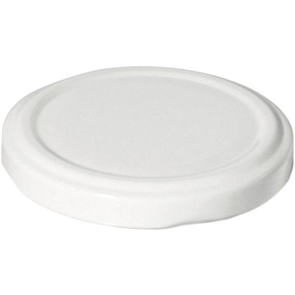 Skrutkovacie viečka, set 10ks, biele, priemer 66 mm