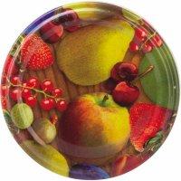 Skrutkovacie viečka, set 10ks, dekor ovocie, priemer 63 mm Gastro