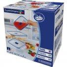 Sada sklenených nádob na potraviny Luminarc Pure Box 3 ks, obdĺžniková
