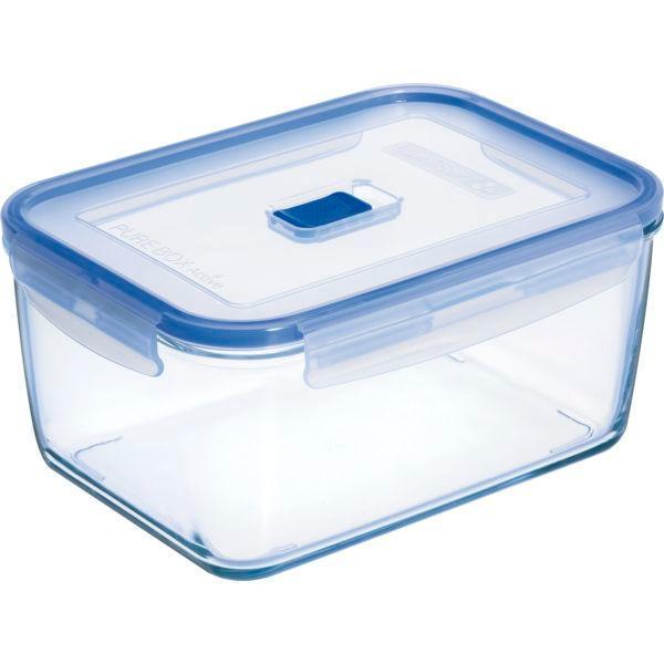 Nádoba na potraviny  Pure box, sklenená obdĺžniková s vekom 234x171x106, objem 2,9 l, Arcoroc, Luminarc