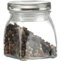 Dóza na korenie sklenená Gastro 120 ml, hranatá