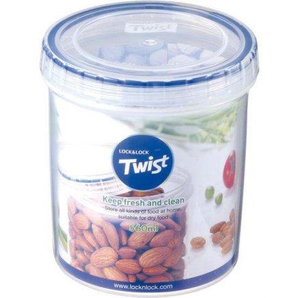 Dóza na potraviny Lock & Lock Twist 560 ml, okrúhla