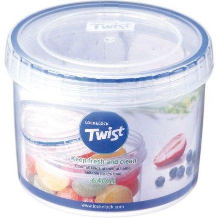 Dóza na potraviny Lock & Lock Twist 640 ml, okrúhla