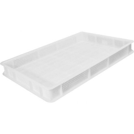 Prepravka plast 13 l 60x40x7 cm, biela, perforovaná