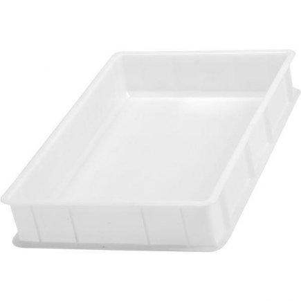 Prepravka plast 20 l 60x40x10 cm, biela