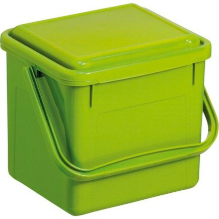 Kompostér do kuchyne plastový Rotho 4,5 l, zelený