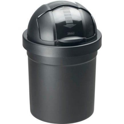 Odpadkový kôš rolovacie veko Rotho Roll Bob 10 l, čierny