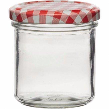 Zaváracie poháre 167 ml, sada 6 ks, viečko káry, Gastro