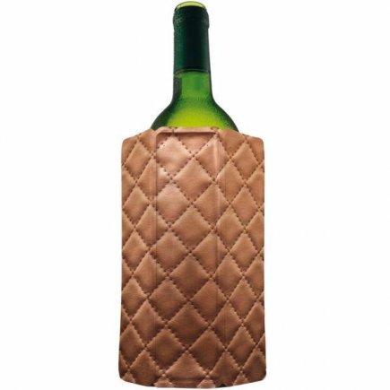 Chladiaci obal na víno Vacu Vin Aktiv, kožený vzhľad