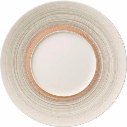 Plytký tanier s širokým okrajom Villeroy & Boch Amarah 29 cm, tmavosivý