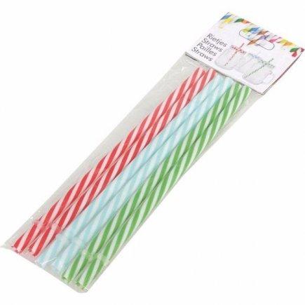 Slamky brčká Gastro 20 cm 6 ks, farebné