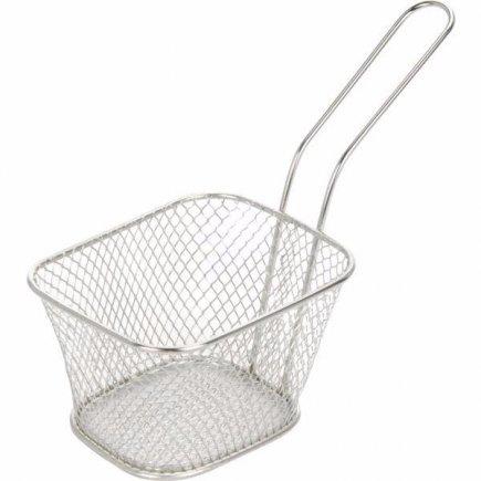 Košík pre servírovanie jedla nerez Gastro 10,5x8,5x7 cm