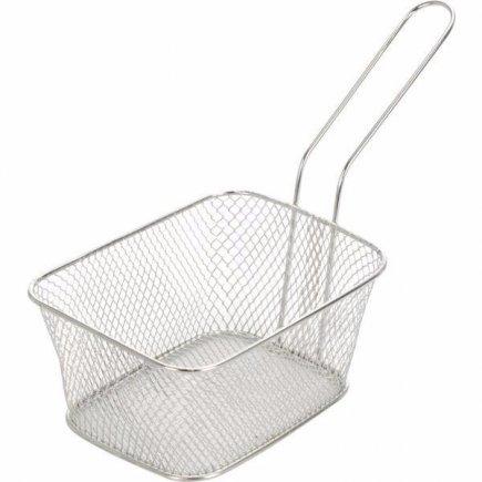 Košík pre servírovanie jedla nerez Gastro 14x11x7 cm