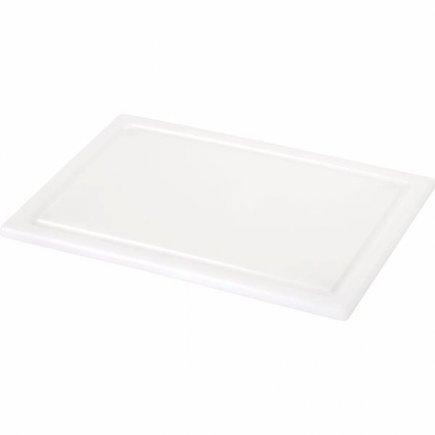 Doštička s drážkou Gastro 33x22 cm, biele