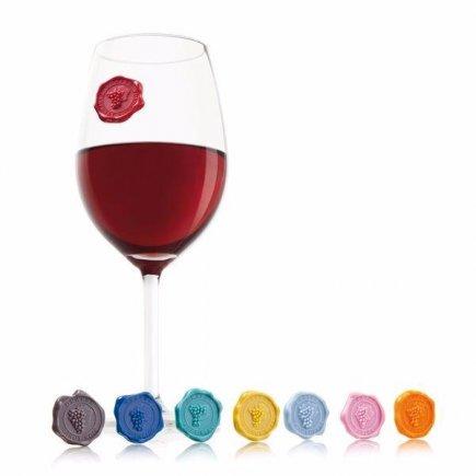 Rozlišovacie prísavky na poháre Vacu Vin 8 ks