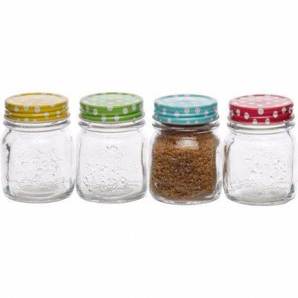 Zaváracie poháre na marmelády Gastro 300 ml, rôzne farby
