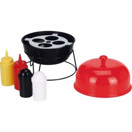 Menážka grilovací set Gastro 5ks, červená / čierna