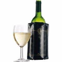 Chladič na víno Vacu Vin Aktiv, čierny s dekorom