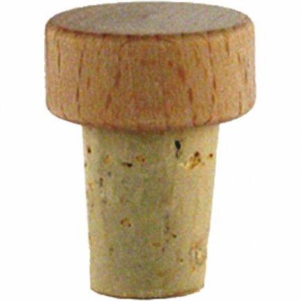 Špunt korkový drevená hlavička, 6ks, priemer 15 mm, pre fľašu 222208013