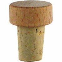 Špunt korkový drevená hlavička, priemer 15 mm, pre fľašu 222208013