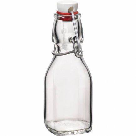 Fľaša na alkohol 0,125 l 4 strany Bormioli Rocco Swing