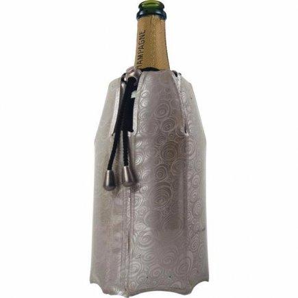 Chladiaci obal na sekt - šampanské Vacu Vin Aktiv, strieborný