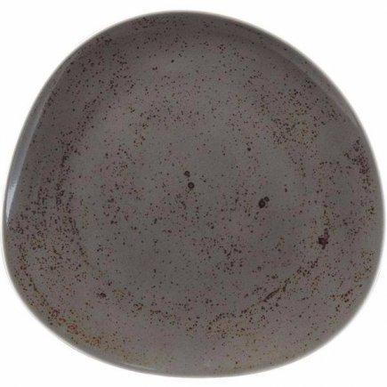 Tanier plytký asymetrický Schönwald Pottery 31 cm, tmavo šedá